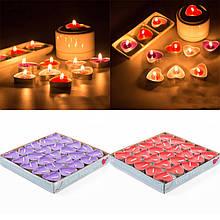 Набор свечей в форме сердца (50 шт в наборе)