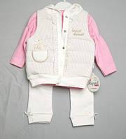Детский костюм тройка для девочки Hippil Baby 6,12,18 мес.