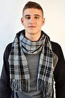 Теплый графитовый мужской шарф
