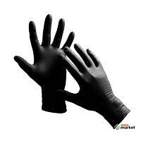 Перчатки нитриловые неопудренные чёрные XS 100шт