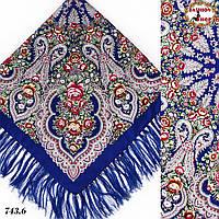 Павлопосадский синий платок Чудесные сны