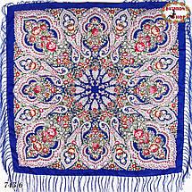 Павлопосадский синий платок Чудесные сны, фото 3