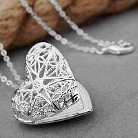 Медальон в виде сердца для вставки фото