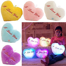 """Светящаяся LED подушка """"I love you"""""""