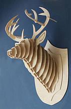 Декоративный 3D-олень на стену из дерева