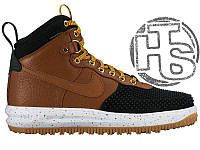 Мужские кроссовки Nike Lunar Force 1 Duckboot Black Light British Tan Gold 805899-004