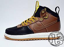 Мужские кроссовки Nike Lunar Force 1 Duckboot Black Light British Tan Gold 805899-004, фото 2