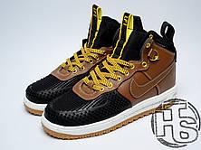 Мужские кроссовки Nike Lunar Force 1 Duckboot Black Light British Tan Gold 805899-004, фото 3