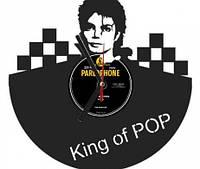 """Часы настенные """"Майкл Джексон"""" из виниловой пластинки"""