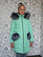 Куртка зимняя Рукавичка (5 цв), детская куртка, пуховик детский, куртка для девочки