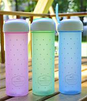 Бутылка для летних напитков Wisdom Create 700 мл (розовый, голубой, зеленый)