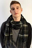 Мужской шарф с бахрамой