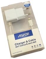 СЗУ Aspor А801 с цельным кабелем iPhone 5/6