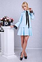 Женское деловое платье с расклешенной юбкой (Гретта lzn), фото 2