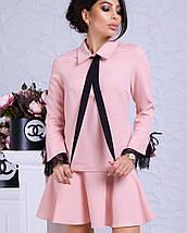 Женское деловое платье с расклешенной юбкой (Гретта lzn), фото 3