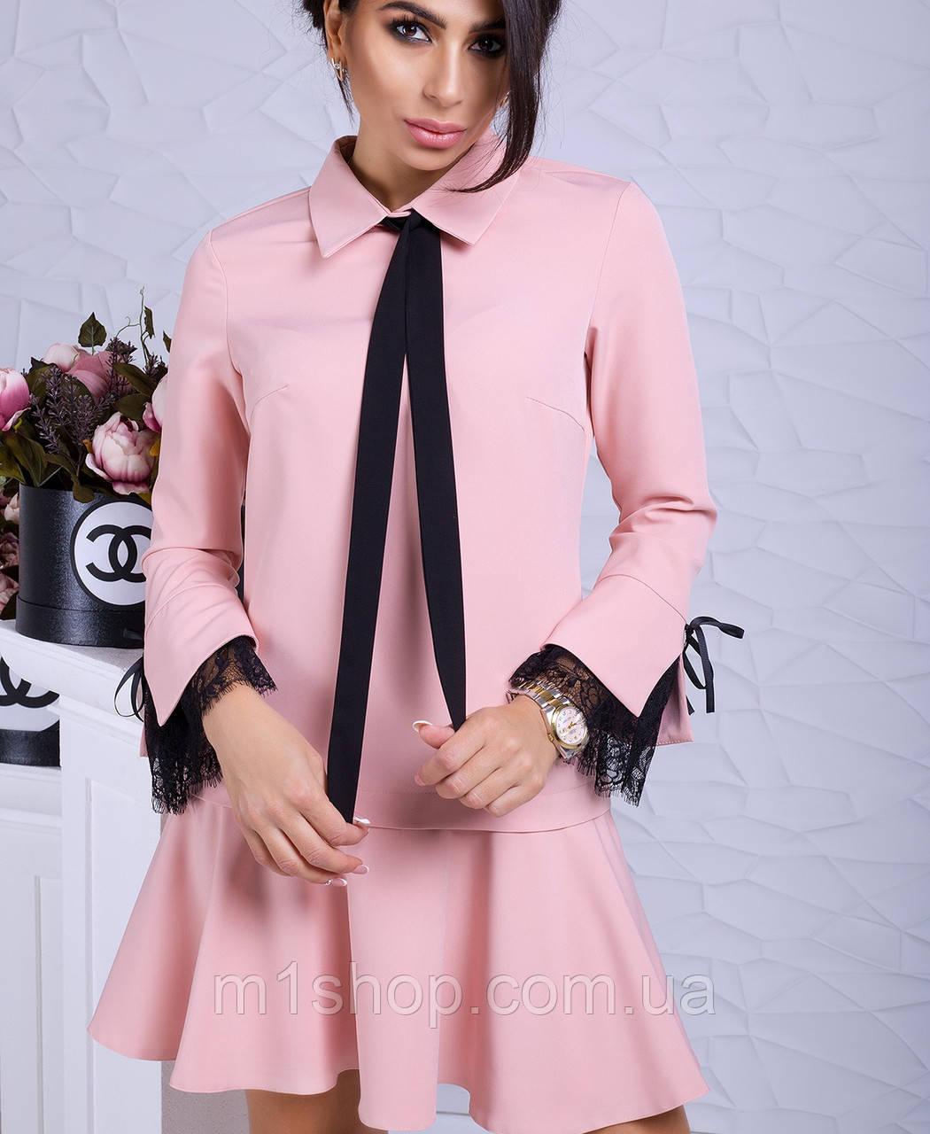 Женское деловое платье с расклешенной юбкой (Гретта lzn)
