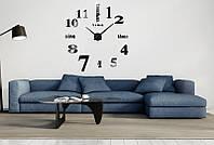 Декоративные часы Travel black (D=1м)