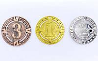Медаль спортивная без ленты RAY d-6,5см (металл, d-6,5см, 38g)