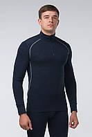 Джемпер мужской, с молнией горловиной и контрастной строчкой, 2 цвета