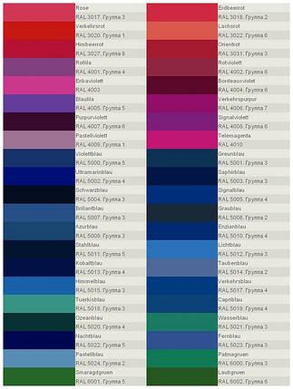Каталог RAL для выбора цвета стекла и цвета рисунка. Страница 2, фото 2