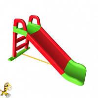 Горка детская  для катания красно-зеленая для дома и дачи