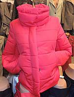 Женская зимняя куртка Буковель, синтепух, 4 размера, красная