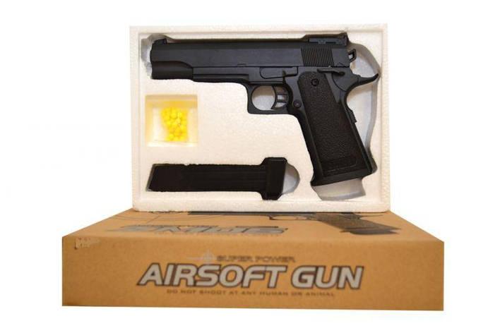 Пистолет металл на пульках ZM05, фото 2