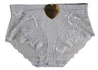 Трусики женские из хлопка кружевные белые, фото 1