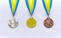 Медаль спортивная с лентой AIM d-5см  (металл, 25g)