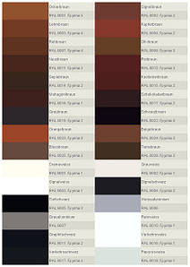 Каталог RAL для подбора цвета стекла и цвета рисунка 5 страниц.