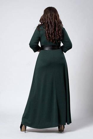 """Платье длинное в пол """"Надежда"""" размер 50,52,54,56 темно-синее, фото 2"""