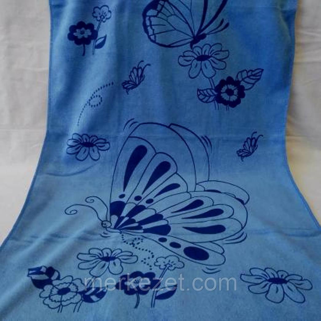"""Полотенце. Метровое полотенце из микрофибры """"Мотылек"""". Полотенце для лица"""