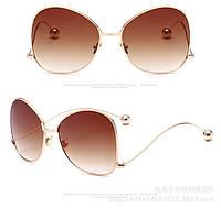 Очки солнцезащитные коричневые авиаторы с градиентом