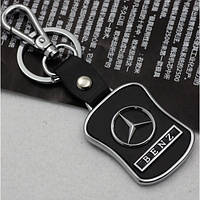 Брелок Mercedes-Benz Мерседес-Бенц кожаный с логотипом