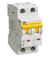 Автоматический выключатель ВА 47-60 2Р 16А 6 кА х-ка B IEK