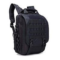 Тактическая сумка рюкзак. Трансформер. Черный, хаки и зеленый., фото 1