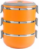 Термо ланч бокс трех-секционный круглый V 3*500 мл (шт)