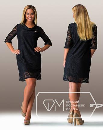 """Шикарное женское платье """" с кружево"""" 48, 50, 52 размер батал, фото 2"""
