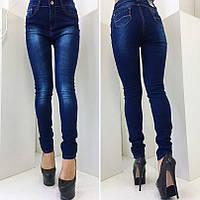 Женские стрейчевые джинсы узкие Польша БАТАЛ, фото 1