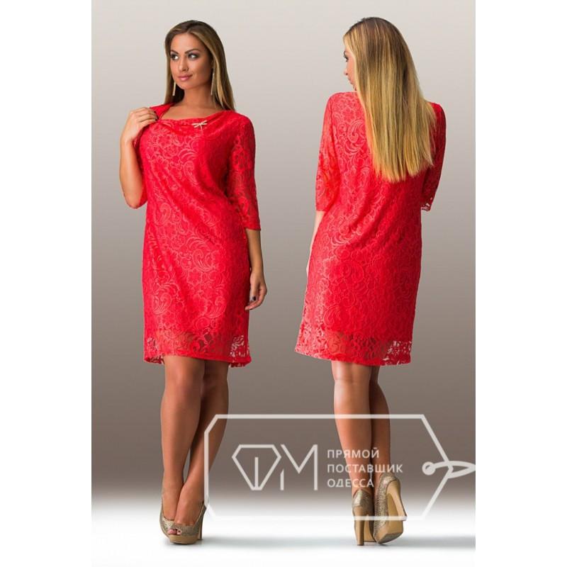 """Шикарное женское платье """" с кружево""""  50, 52, 54 размер батал"""