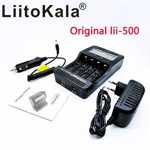 Liitokala Lii-500 NiMH універсальний зарядний для всіх видів баночных акумуляторів +блок живлення+ авто адапт