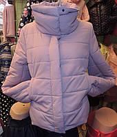 Женская зимняя куртка Буковель, синтепух, 4 размера, пудра