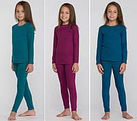 Комплект детского термобелья для девочки, 5 цветов, шерстяное