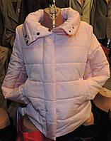 Женская зимняя куртка Буковель, синтепух, 4 размера, персиковая