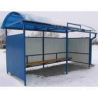 Остановка автобусная 5м профнастил
