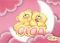 Схема для вышивки бисером 13*18см Влюбленные мишки ТД-010 Тела Артис