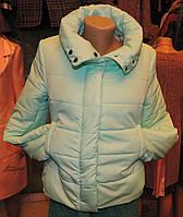 Женская зимняя куртка Буковель, синтепух, 4 размера, мятная