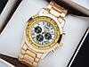Кварцевые наручные часы Guess золото, серебристый циферблат