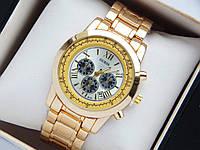 Кварцевые наручные часы Guess золото, серебристый циферблат , фото 1