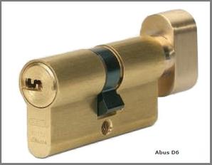 Цилиндр дверной ABUS D6 ключ-тумблер латунь